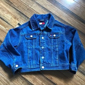 Vtg kids Tommy Hilfiger Jean denim jacket size 4